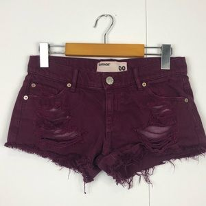 3/$30 Garage Festival Distressed Shorts Sz 00